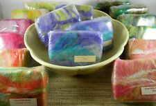 Natural Artisan Felted Soap, Full Size Bar, Goat Milk Soap, Gift, Exfoliate