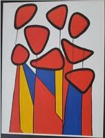 "Alexander Calder ""Composition"" Original Lithograph 1972 Limited Edition Rare"