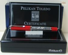 PELIKAN SPECIAL EDITION M910 TOLEDO RED WITH SILVER PLATED FINISH FOUNTAIN PEN !
