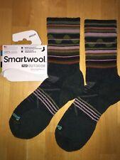 SmartWool PhD OUTDOOR Midweight Crew Socks –Lochness, Hike Trek Camp – Women MED