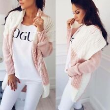 Neu Damen Strickjacke Cardigan Ombre Stil Pulli Pullover Mantel S M L