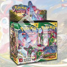 Pokemon TCG: SWORD y SHIELD EVOLVING cielos Booster Sellado Preventa 08/27/21