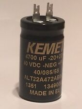 KEMET 4700UF 40V HIGH RIPPLE RADIAL ELECTROLYTIC CAPACITOR ALT22A472AB040  ad2j4