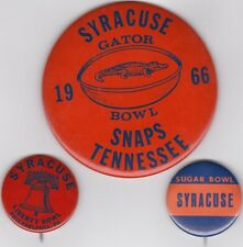 Syracuse Orange Orangemen Football Pin Pinback Button Badge Lot (3)