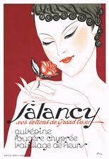 """Affiche originale 1920-30  Parfumeur """"SALANCY ses lotions de Grand Luxe"""""""