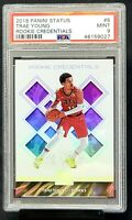 2018 Status Rookie Credentials Hawks TRAE YOUNG Rookie Card PSA 9 MINT - Pop 13