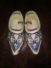 Mini Dutch Shoes Clogs Decorative Ornaments Holland WoodenBlue & White
