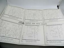 Vintage Bally Coin Chute Circuits Electronic Schematics Wiring Diagram