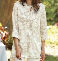 Size XL Soft Surroundings Boho 100% Tencel Tunic Top Shirt Blouse New Lagenlook