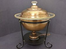 Brass & Stainless Chafing Dish from India Pre 1970's Alcohol Burner