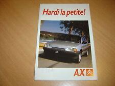 DEPLIANT Citroën AX de 1987