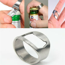 Thumb Ring Bottle Opener Stainless Steel Beer Opener Bar Hotel Kit Useful Tools