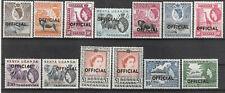 Kenya Uganda Tanganyika 1959 Definitives overprinted OFFICIAL 2 £1 MNH CV £44.95