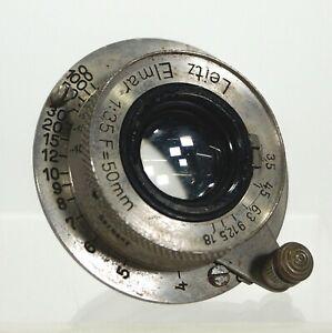 Vintage Pre-War 1930's LEICA Leitz Elmar Thread Mount Camera Lens 1:35 F/50mm