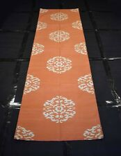 Handmade Cotton Runner Floral Orange Color Modern 2.5x8 Feet Runner