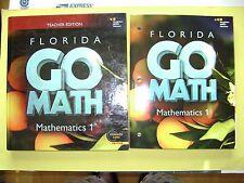 Teacher Edition & Student Edition Go Math! Florida Mathematics 1 @2015