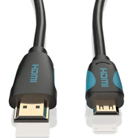 2m mini HDMI High Speed Kabel Adapter von JAMEGA | für Tablet Kamera Notebook