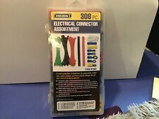 Store House Electrical Connector Assortment 308 Pieces Zip Ties Terminals Clamps