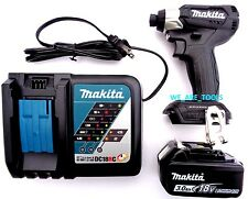 New Makita 18V XDT15 Brushless 1/4 Compact Impact, (1) BL1830 Battery,1) Charger