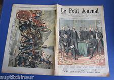 Le petit journal 1905 742 Feu à la papeterie de Ballancourt Ministère Rouvier