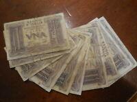 lotto di 12 banconote da 1 lire 1939 regno d'Italia