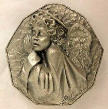 "Pewter 3.5"" Lundeen Angel Statute Ornament Figurine"