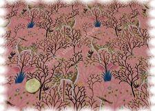 Folk Deers Stretch-Jersey rosé Hilco Shirtstoff Rehe Baumwoll Jersey 25 cm