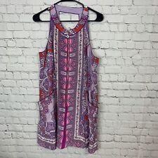 NANETTE LEPORE Womens Purple Paisley Print Zipper Front Long Maxi Dress 12