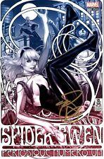 Spider-Gwen #1 (Mark Brooks Fade Variant / Gold Signed / DF / COA / 2015 / NM)