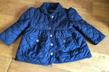 Baby Girl Navy Blue Quilted Coat Jacket 12 months By Ralph Lauren Spring/ Autumn