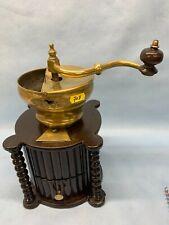 joli moulin à café - mécanisme manuel avec trémie en laiton - lot 707F