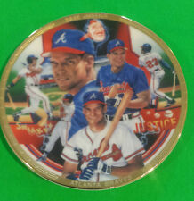 1993 Sports Impressions DAVE JUSTICE 4 inch Mini Plate New in Box With Stand