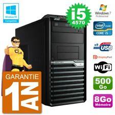 PC Acer Veriton M4630G MT i5-4570 RAM 8Go Disque 500Go Graveur DVD Wifi W7