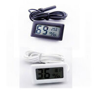 White LCD Digital Embedded Thermometer Hygrometer for Poultry Reptile