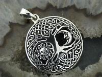 Kettenanhänger Baum des Lebens Sonne Mond Celtic Silber925 Lebensbaum Weltenbaum