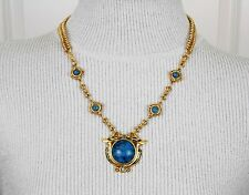 "EDGAR BEREBI Limited Edition ""BLUE NILE"" Gold Plated NECKLACE Egyptian Swans"