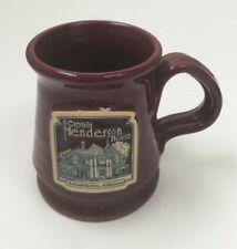 Captain Henderson House Coffee Mug Arkadelphia Arkansas Maroon Stoneware