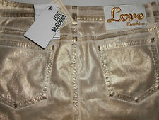 New LOVE MOSCHINO gold jeans W28