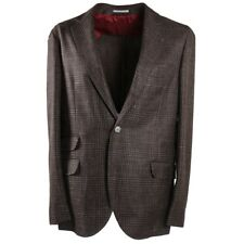 Nwt $3495 Brunello Cucinelli Woven Check Wool-Silk-Linen Sport Coat 40 R