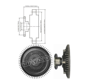 Dayco Viscous Fan Clutch 115468 fits Mazda E-Series E1800 (SR2), E2000 (SR2)