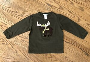 Janie And Jack Long Sleeve Tee Boy Size 3 Moose