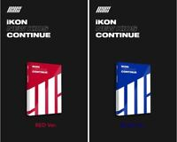 IKON NEW KIDS : CONTINUE Album Red Blue ver PhotoBook+PostCard+PhotoCard SEALED