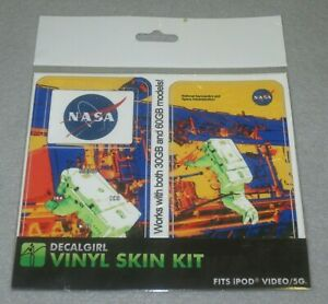 ☆ NEW Sealed DECALGIRL NASA Vinyl Skin Kit for iPod Video/5G Beautiful Graphics