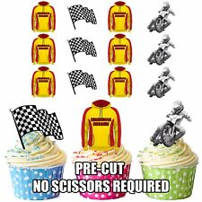 PRECUT Birmingham Brummies Speedway Edible Cupcake Topper Cake Decorations