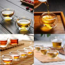 50ML Small Size Heat Insulated Clear Glass Tea Mug Gongfu Tea Cup High Quality