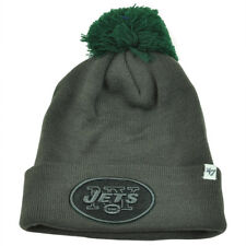 NFL '47 Brand New York Jets Justus Charcoal Pom Cuffed Knit Beanie Skully Toque