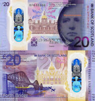 ROYAL BANK OF SCOTLAND, £20 POUNDS, 2020, P-NEW, POLYMER, NEW DESIGN, UNC