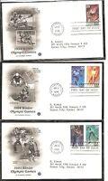 US SC # 2807-2811 Winter Olympics FDC. Postal Commemotative Society Cachet 1.