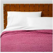 Opalhouse Magenta Garment Washed Quilt/Shams ~ Full/Queen