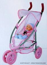 Tinkers  Doll Pram Jogging Stroller - For kids Brand New Pink Foldable H 68 cms